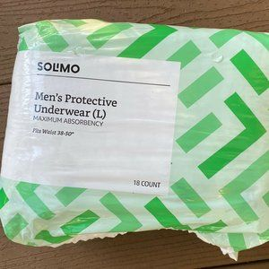 Solimo Men's Protective Underwear Size Large 38-50